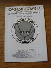 21/08/1982 Dorchester Town v Witney Town  (No Apparent Faults)