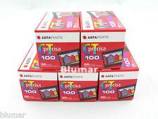 5 AGFA PRECISA 100 ISO 100 35mm COLOR SLIDE FILM AGFAPHOTO PRECISA Fresh 12/2019