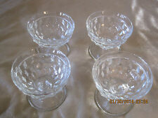 New listing AMERICAN by Fostoria Footed SHERBETS   Set of Four (4) - Crystal SET LOT 0F 4