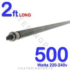 """HE2405 24"""" 2 FOOT 600mm LONG 500 watt 500w 220-240v DRY WET ROD HEATING ELEMENT"""