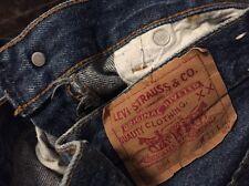 Vintage Levis 501 Small e No Redline Denim Jean. Size 32 x 33
