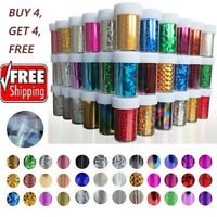 Nail Art Tips Wraps Transfer Foil Starry Sky Holographic Sticker Decals Decor