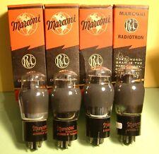 4 X 6V6G MARCONI  ( 1 QUARTETTO ) SELEZIONATO TUBE AUDIO EQ. MULLARD 6V6G 6V6GT