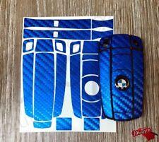BLEU Fibre de Carbone Porte-clés Autocollant superposé BMW1 3 5 6 SeriesZ4 X1 3