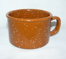 STARBUCKS 2006 8 OZ BURNT ORANGE BROWN SHORT SPECKLED COFFEE MUG CERAMIC CUP