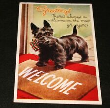 1949 BAMFORTH SCOTTIE DOG WELCOME  POSTCARD