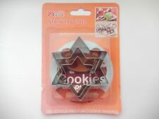 Set of 3 Metal Star Shape Cookie Cutters For Cakes Baking Clay Pastry UK