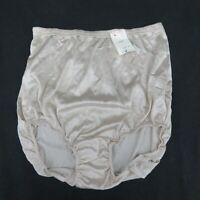 Pam Undies Nylon Brief Panty Panties Granny Underwear Size 5 Beige Vintage USA