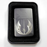 Star Wars Jedi Black Engraved Cigarette Metal Lighter Biker Gift LEN-0115