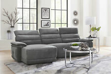 Modern Sofa Sectional Gray Microfiber NEW Reclining Living Room Couch Set IF6R