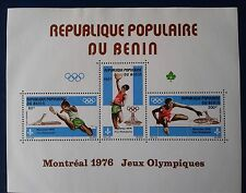 BENIN, SOUVENIR SHEET C252a,MNH,OLIMPIC GAMES TOPIC MONTREAL 1976,HOLIDAYS SPECI