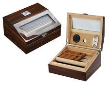 Hand Made 50+ Count Cigar Humidor Box Cabinet Mahogany Humidifier Hygrometer 15