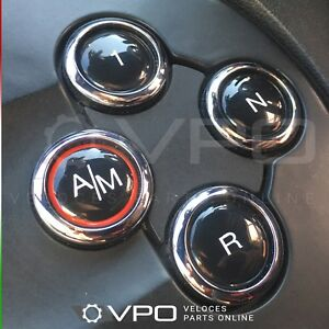 MTA AUTOMATIC GEARBOX BUTTONS COVER UP STICKERS FOR FIAT ABARTH 500 595 695