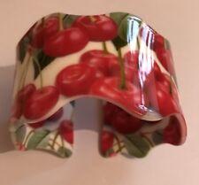 Cherry, Cherries, Fruit Bangle Statement Cherry Wavy Bangle