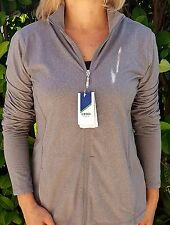 IZOD Women's Jacket, Lightweight, 1/2 Zip  Light Grey Sz.Med. NWT