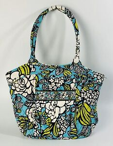Vera Bradley Women's Island Bloom Turquoise Blue Floral Shoulder Handbag Purse