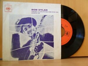 BOB DYLAN Tonight I'll Be Staying Here With You 7/45 [NEAR MINT] '69 PORTUGAL PS