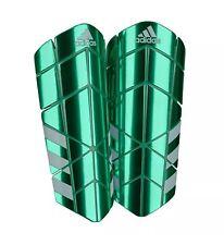 Adidas Ghost Pro Slip In Shinguard With Sleeve Metallic Green Size S