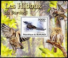 Burundi 2011 MNH Sheet, Owls, Spotted Eagle Owl, Birds of prey