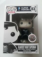 Funko POP Blackest Night Superman Black & White Gamestop Exclusive #83