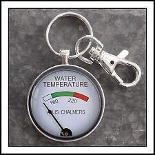 Allis Chalmers Temperature  Gauge Photo Keychain Tractor Key Chain