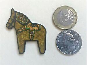 ☆ Dala Geocoin LE Hjalmar Pearlgold Dalecarlian Horse Sweden Mousekakat U/A