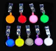 4 X Retractable ID Clip Card Holder REEL RECOIL PULL CHAIN Swipe Card