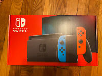 Nintendo Switch 32GB Console Neon Red & Blue Joy-Con FREE SHIPPING