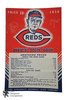 938 Reds Score Book Program Cincinnati Baseball Club Co vs Philadelphia Scored