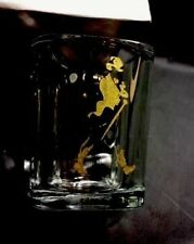 "Johnnie Walker 2""x2.5"" Molded Thick Rocks Glass Style Shot Glass w/Gold Logo"