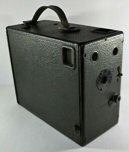 Early Vintage / Antique Houghton Klito Box Falling Drop Plate Camera