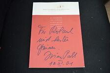 Irina Pabst signed autógrafo en persona programa cuaderno la pista lleva a Berlín