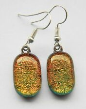 Cabochon Glass Costume Earrings