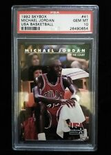 1992 SkyBox Micheal Jordan USA Basketball PSA Graded Card 10 Gem Mint
