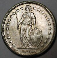1960 B Switzerland 1/2 Franc Brilliant Uncirculated Helvetia Silver Coin