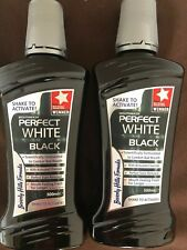 2 Beverly Hills Formula BLACK Perfect White Mouth Wash Activated Charcoal 500ml