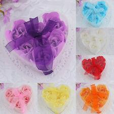 6PCS Bath Body Flower Heart Soap Rose Petal Wedding Favor Party Decoration