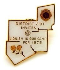 Pin Spilla Lions International District 2 - XI Lionism In Our Camp For 1975
