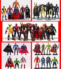 Super Hero Avengers Batman Superman Thor Hulk captain America Thing Loki Figures