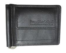 LEDER Geldbörse DOLLAR-CLIP schwarz  Geldklammer Geldscheinclip Scheinklammer
