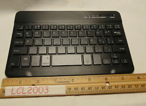 "Thin Lightweight Bluetooth 3.0 keyboard 8"" x 5"" Black RGB Back Light recharable"
