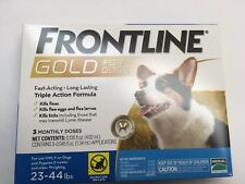 Frontline GOLD  for Dogs 23-44 lbs - BLUE 3 MONTH//3 DOSES