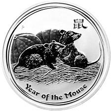 1 OZ Silber Lunar 2 Maus 1$ Australien 2008  Lunar II Jahr der Maus