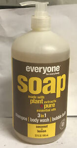 Everyone Soap, EO Products, 32 oz Coconut and Lemon