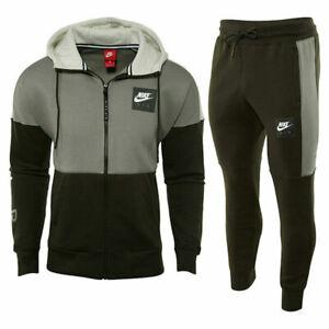 Nike Air Tracksuit Fleece Hoodie Joggers Sweatpants Hoody Bottoms Green New Mens