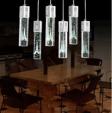 Tower LED Ceiling Crystal  Light Bubble Bar Pendant Lamp Lighting Chandelier