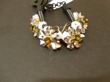 NWT J. Crew Embellished Floral Cord Bracelet E8601 NEW
