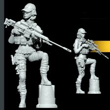 1/35 Resin Fantasy Female Soldier Sniper unpainted unassembled BL956