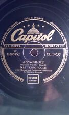 """NAT """"KING"""" COLE,10""""78,ANSWER ME/DINNER FOR ONE PLEASE,CAPITOL(CL.14055)"""