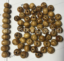 200 Pcs Brown Wood Spacer Loose Beads Necklace Bracelets Charms Findings 8mm